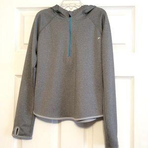 Old Navy Active girl's hoodie half zip gray top